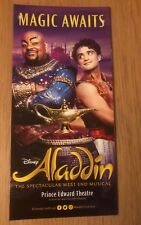Disney's Aladdin Prince Edward Theatre 🎭 West End Musical LEAFLET FLYER
