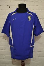 VINTAGE BRAZIL 2002/2004 AWAY FOOTBALL SHIRT SOCCER JERSEY NIKE WORLD CUP MENS L