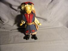Vintage Poland Made Wood Doll 7 inch