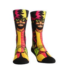 Rock Em Macho Man Randy Savage WWE L/XL Crew Socks