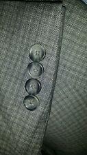 48S Gray Tooth Over Check Textured 2 vents Jacket Sport Coat Blazer Jacket