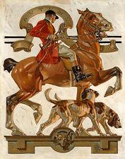 Leyendecker Fox Hunting Print 11 x 14   #3504