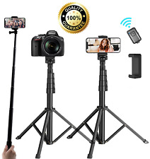 Universal 62 Inch Selfie Stick Tripod Stand For Cell Phone With Bluetooth Remote