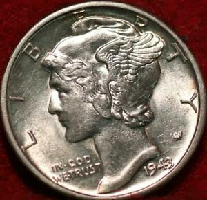 Uncirculated 1943-D Denver Mint Silver Mercury Dime