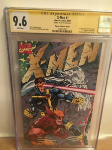 X-Men 1 CGC SS 9.6 signed by Jim Lee Gatefold Variant Wolverine Pyslocke Rogue