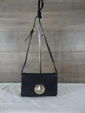 Kate Spade Black Leather Crossbody Shoulder Bag Satchel Purse Handbag