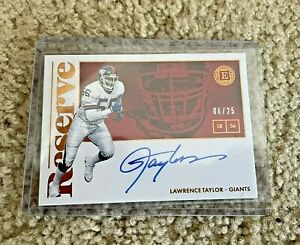 2018 Panini Lawrence Taylor Reserve RS-LT Auto Card #6/25