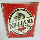 George Killian's Irish Red logo decor tin beer sign rustic bar man cave garage