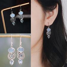 Wedding Jewelry Moonstone Earrings Multi-Gemstone Peridot Topaz Ear Stud