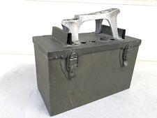 Antique Steel Shoe Shine Box & Cast Iron Star Foot Rest.