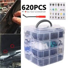 620 Pcs Car Retainer Clips Auto Fasteners Push Trim Clips Pin Rivet Bumper Kit
