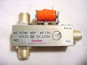 "Dow-Key, Mod.49-105, RF Coaxial Relay, SPDT ""N""(F), HF/VHF 1KW+, Mil.Spec., New"