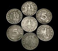 Rarest WWII German 5 Cent Coin Military Army War Collection - World War 2 Era