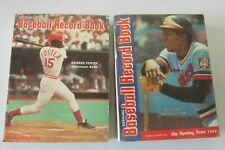 Baseball Record Book all 2 different George Foster Rod Carew (1976 + 1978)