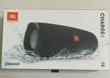 JBL Charge 4 Black Waterproof Portable Rechargeable Bluetooth Speaker NEW IN BOX