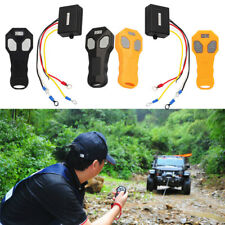 12V/24V Wireless 2 Remote Control + Receiver Winch Kit For Car Bulldog Jeep ATV