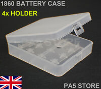 2x 18650 BATTERY STORAGE CASE HOLDER CONTAINER BOX - 4 COMPARTMENT -QUALITY NEW