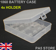 18650 BATTERY STORAGE CASE HOLDER CONTAINER BOX - 4 COMPARTMENT - QUALITY NEW