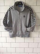 Vintage Retro años 90 Gris Athletic desechados Adidas Sudadera Suéter UK 14/16