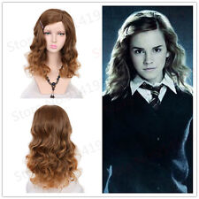 Medium Brown Long Curly Movie Harry Potter Hermione Jean Granger Cosplay Wigs