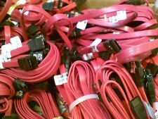 TEN 10 lot 18 inch SATA 3.0 III SATA3 SATAiii 6GB/s HDD Data Cable Red 10x BONUS