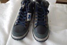 Lico Jungen Stiefelette Stiefel blau/grau Reißverschluss Gr.34