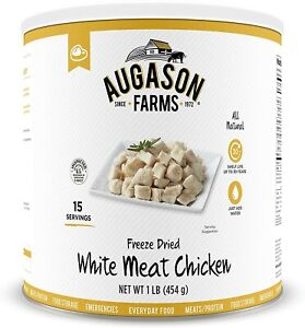 Augason Farms Freeze Dried REAL White Meat CHICKEN Emergency Survival MRE Food