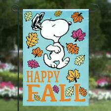 Peanuts Snoopy Happy Fall Garden Flag 12x18