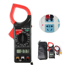 DT266C Digital LCD Clamp Meter Multimeter Ohmmeter with Temperature Measurement