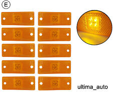 10 pcs 12V 24v LED amber side marker light indicator bus van E-marked
