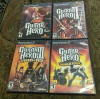 Lot of 4 Guitar Hero Games: 1, 2, 3 & World Tour PS2 PlayStation 2 Play Station