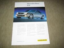 Mercedes SLK R170 Karmann Prospekt Blatt brochure von 1999