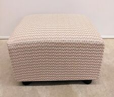 Footstool Pouffe Small Stool /pastel blush pink Chevron
