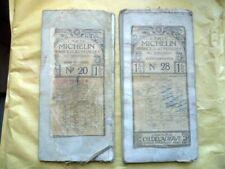 2 Cartes MICHELIN entoilées des années 1910 n°20 Gien-Auxerre n°28 Clermont-Lyon