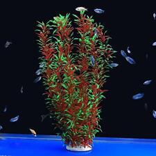New listing Large Aquarium Plants Artificial Plastic Plants Decoration 21inchRed&Green