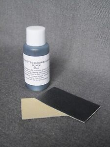 DIY leather colourant repair restore re-colour BLACK dye for all leather 30ml
