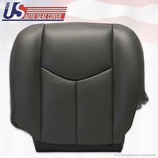 2003 to 2006 Chevy Silverado Driver Bottom Leather Seat Cover Very Dark Gray