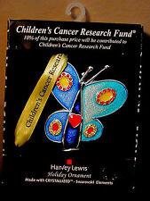 Harvey Lewis Christmas Tree Ornament Silver Plated Swarovski Childrens Cancer
