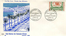 FRANCE 1960 - FDC 1244 1 ETATS GENERAUX DES COMMUNES D'EUROPE CANNES - pn