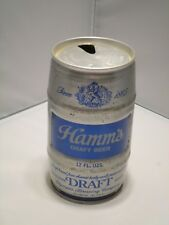 Vintage Hamm's Draft Barrel Olympia Brewing 2 City Steel Pull Tab Beer Can