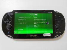 Z11623 Sony PS Vita PCH-1100 console Crystal Black Japan x DHL
