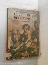 LETTURE DI RELIGIONE Augusto Baroni Mondadori 1926 libro scuola manuale corso di
