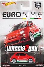 FIAT 500 - 2016 Hot Wheels Car Culture EURO STYLE - B Case -