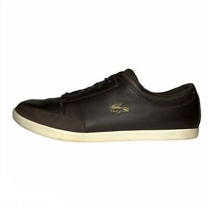 Lacoste Men's Seefeld SRM Brown Leather and Suede Casual Shoes Size 10.5M