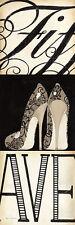 Marco Fabiano: Fifth and Madison III Fertig-Bild 30x90 Wandbild Mode Schuh Heel