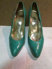 Charles Jourdan Green Leather High Heel Pumps 7.5 M