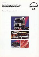 Prospekt MAN Lieferprogramm 8 94 1994 Broschüre Lastwagen Omnibus Bus LKWs