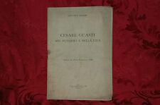 Libro 1938 Cesare Guasti Nel Pensiero e nella Vita Giovanni Bertini Filosofia