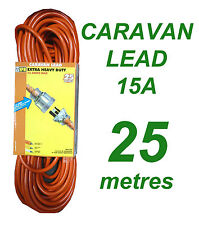 Caravan Lead 15A 25 metres Heavy Duty Power Cord
