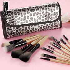 Fräulein3°8 Set de 12 Brochas Pinceles Profesional Maquillaje con Funda Pantera